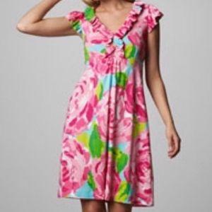 Lily Pulitzer Clare Floral Dress EUC
